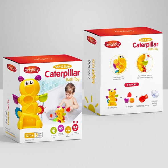 Plush design with the title 'package and Logo design'