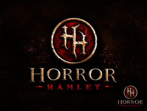 Video game logo with the title 'Logo design for upcoming game - Horror Hamlet'