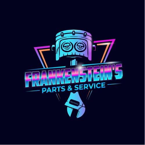 Car rental logo with the title 'Retro inspired neon logo for Frankenstein mechanic'