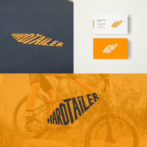 Mountain bike design with the title 'Hardtailer'