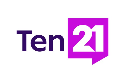 Purple logo with the title '21'
