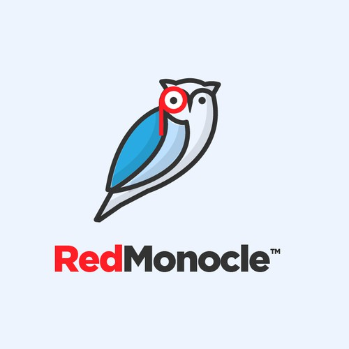 Best logo with the title 'Owl Monocle logo'