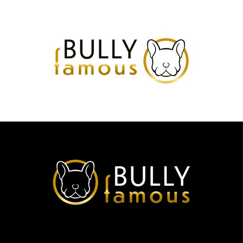 Breeder design with the title 'Logo concept for a Frenchie/English bulldog breeder'