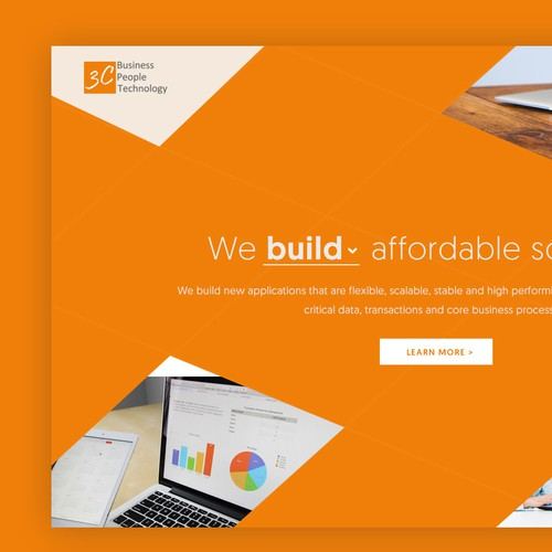 Energetic design with the title 'Creative web design'