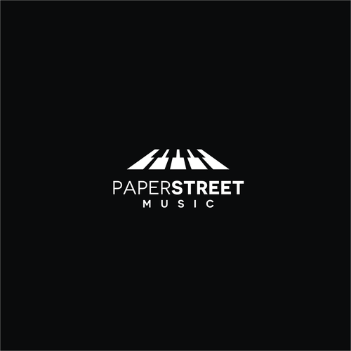 Classical music logo with the title 'Paper Street Music logo'