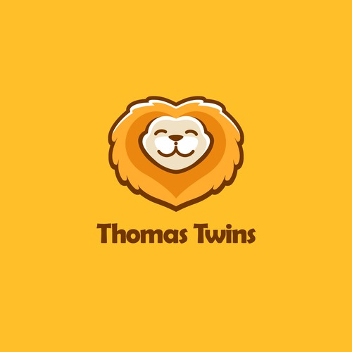 Twin logo with the title 'adorable logo concept for twin baby'