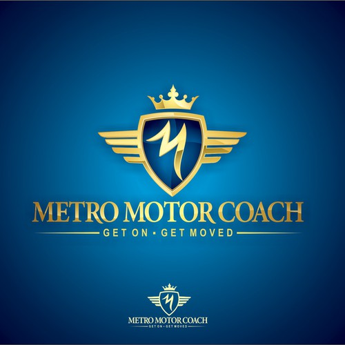 Shine logo with the title 'Metro Motor Coach needs a new logo'