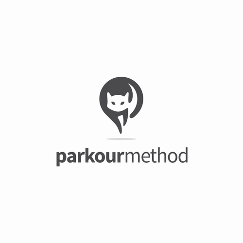 Toon logo with the title 'parkourmethod Logo Design Proposal'