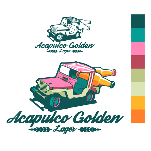 Inkscape design with the title 'Acapulco Golden Logo'