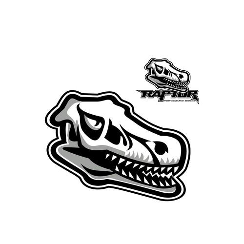 Dinosaur design with the title 'Raptor Performance Shocks'