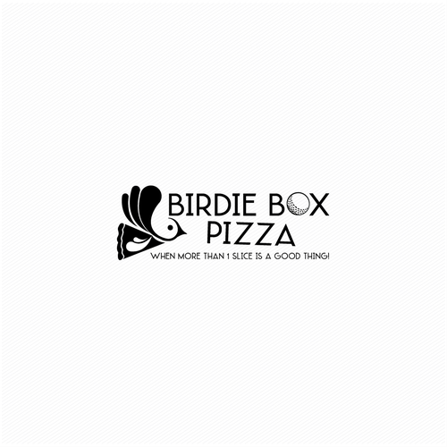 Golf design with the title 'Birdies Box Pizza'