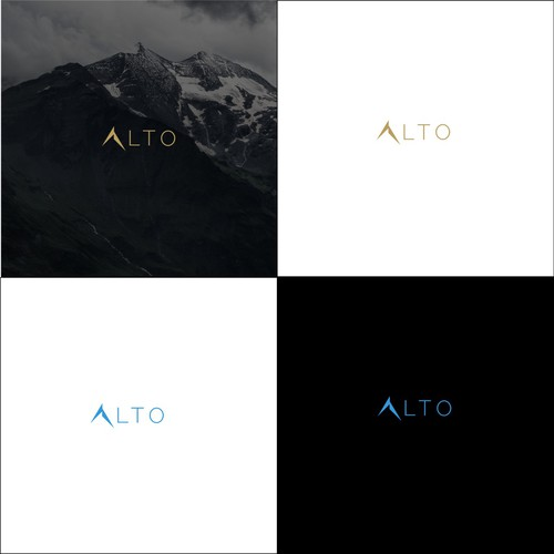 Attractive design with the title 'ALTO Minimalist Logo'