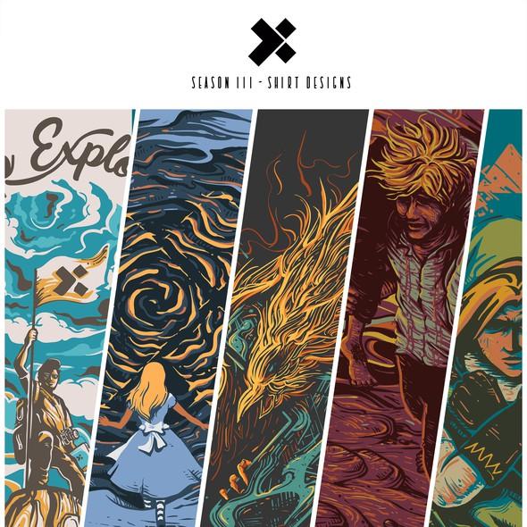 Geek t-shirt with the title 'X-season III designs'