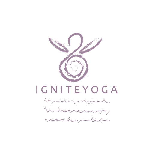 Basic logo with the title 'Logo concept for Yoga'