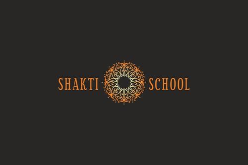 Orange logo with the title 'Shakti School logo design '