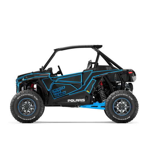 Livery design with the title 'RZR turbo S wrap design'