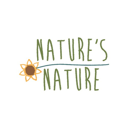 Sunflower design with the title 'Create a logo for Nature's Nature'