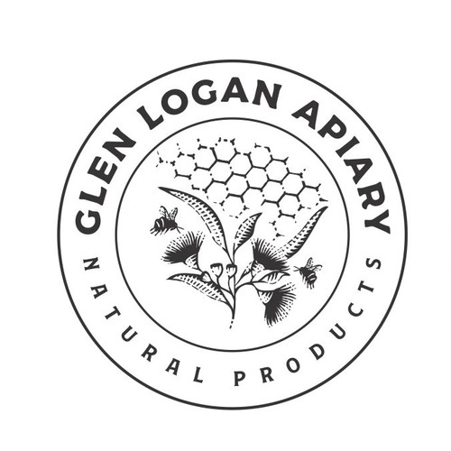 Beehive logo with the title 'Glen Logan Apiary'