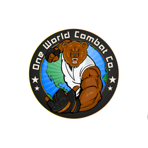 Combat design with the title 'World Combat'