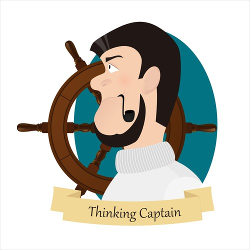 Captain logo with the title 'ThinkingCaptain - New YouTube Channel needs awesome logo'