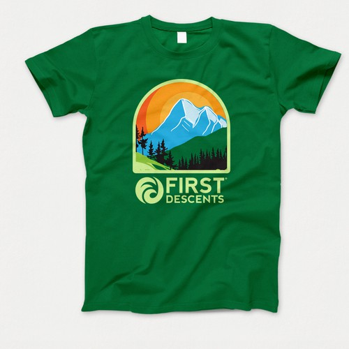 Camping t-shirt with the title 'Mountain themes t shirt design'