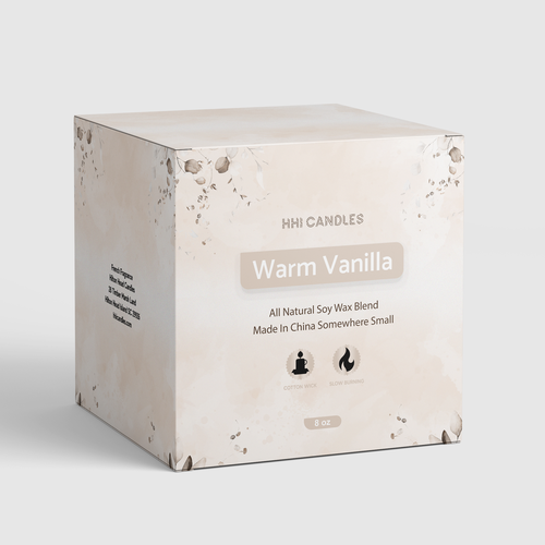Vanilla design with the title 'Candle Box Design'
