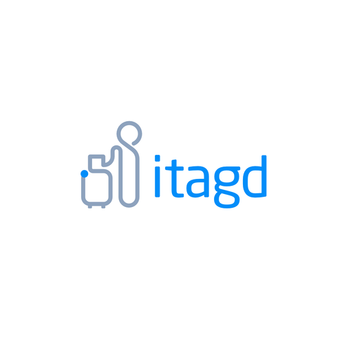 Luggage logo with the title 'Logo Concept For Travel Industry itagd'