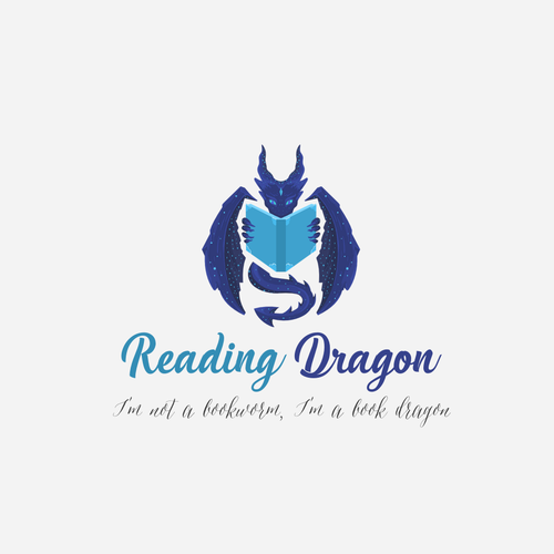 "Bookstore design with the title 'Logo concept for ""Reading Dragon""'"