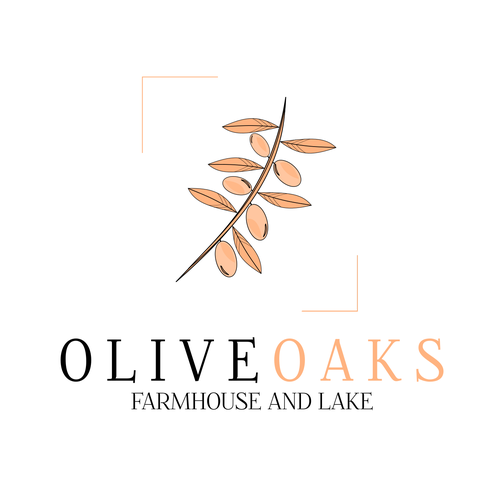 Olive branch design with the title 'Elegant design for a farmhouse'
