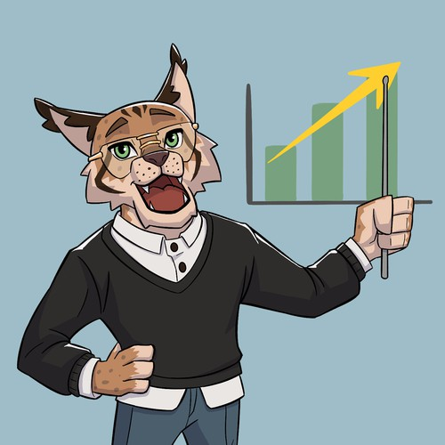 Lynx design with the title 'Lynx themed Finance Mascot'