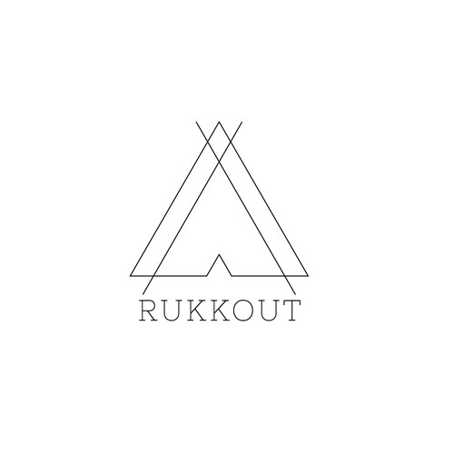 Tent logo with the title 'Rukkout logo'