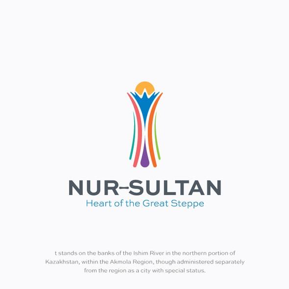 Prestigious design with the title 'Simple logo representing the city of Kazakhstan'