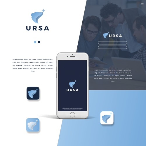 Call center logo with the title 'URSA'