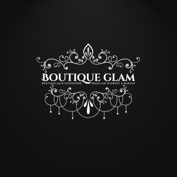 Makeup design with the title 'Discover vintage Logo design for BoutiqueGlam'