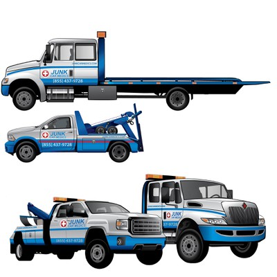 illustration for towing company
