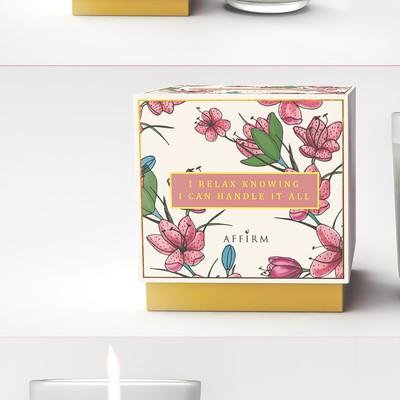 蜡烛定制花卉设计