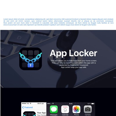 Clean app icon design for App Locker
