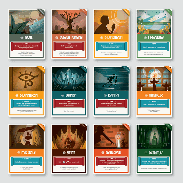 Card game artwork with the title 'Card Game Design'