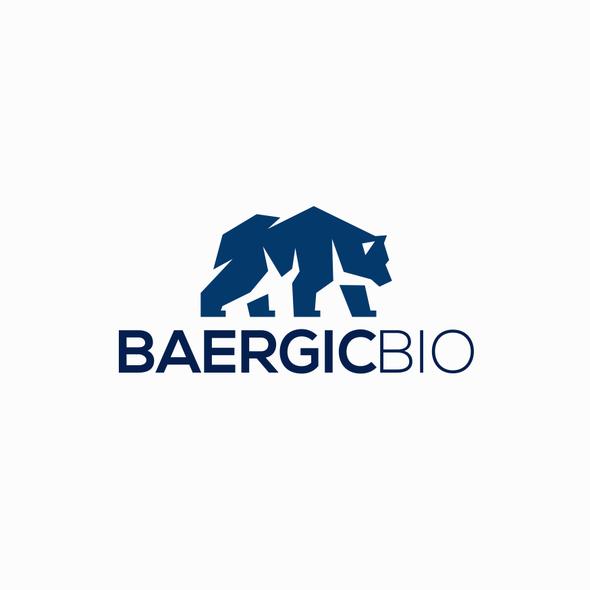 Biotech logo with the title 'Bear Logo '