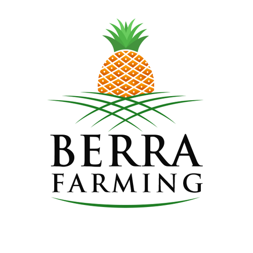 Pineapple logo with the title 'Pineapple farming'