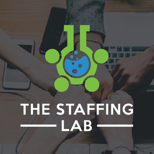 Outsourcing logo with the title 'Staffing lab logo '
