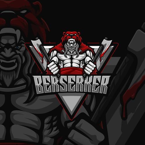Esports design with the title 'Aggressive Viking Mascot for eSport Team'
