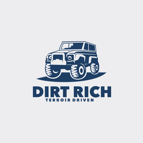 Dirty design with the title 'Dirt Rich Concept Logo'