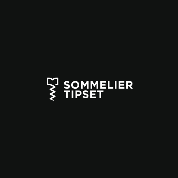 Corkscrew design with the title 'Sommelier Logo'