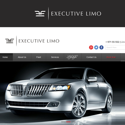 High-end brand with the title 'Logo for Executive Limo '