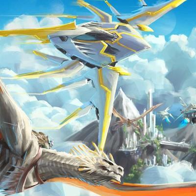 Dragon sci fi illustration contest