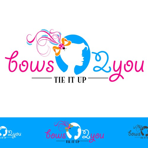 Bow logo with the title 'Bows2you'