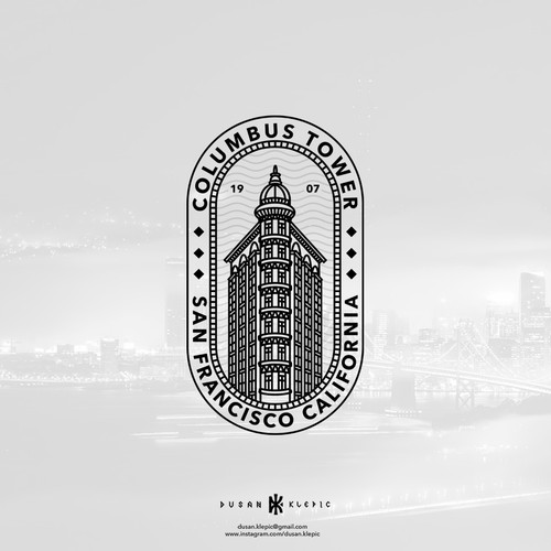Building logo with the title 'Columbus Tower'