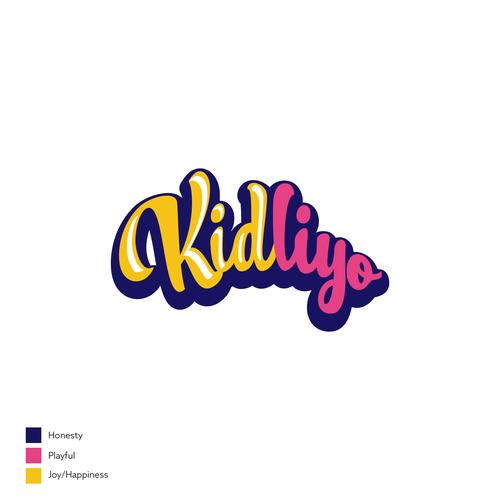 Typographic logo with the title 'Kidliyo'
