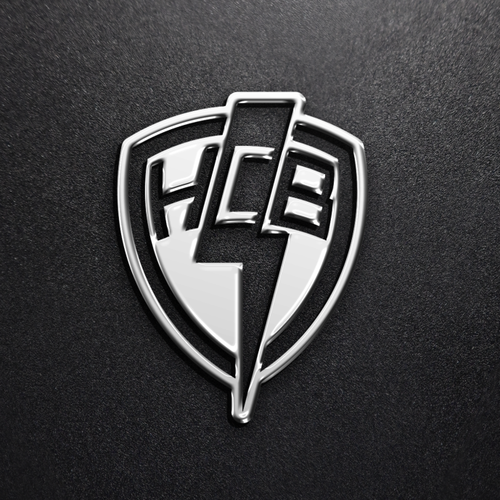 Lightning bolt design with the title 'Badge logo.'